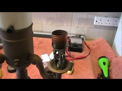 How to re-wire a vintage Torchiere (3 way) floor standing lamp