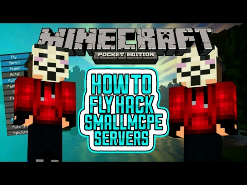 HOW TO FLY HACK IN SMALL MCPE SERVERS / LEET SERVERS
