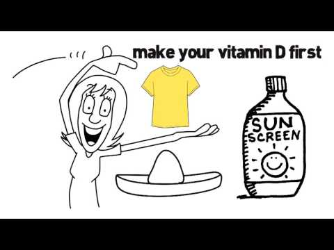 How to make vitamin D from sunshine