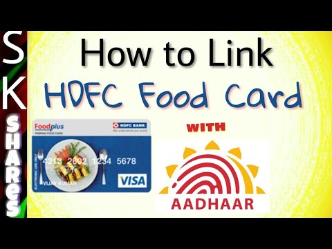 How to link HDFC Food Card to Aadhar card