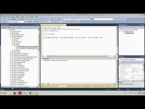 SQL Server Tutorial 15: Adding index options