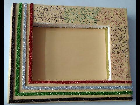 Hand made photo frame   beautiful photo frame   easy hand made photo frame