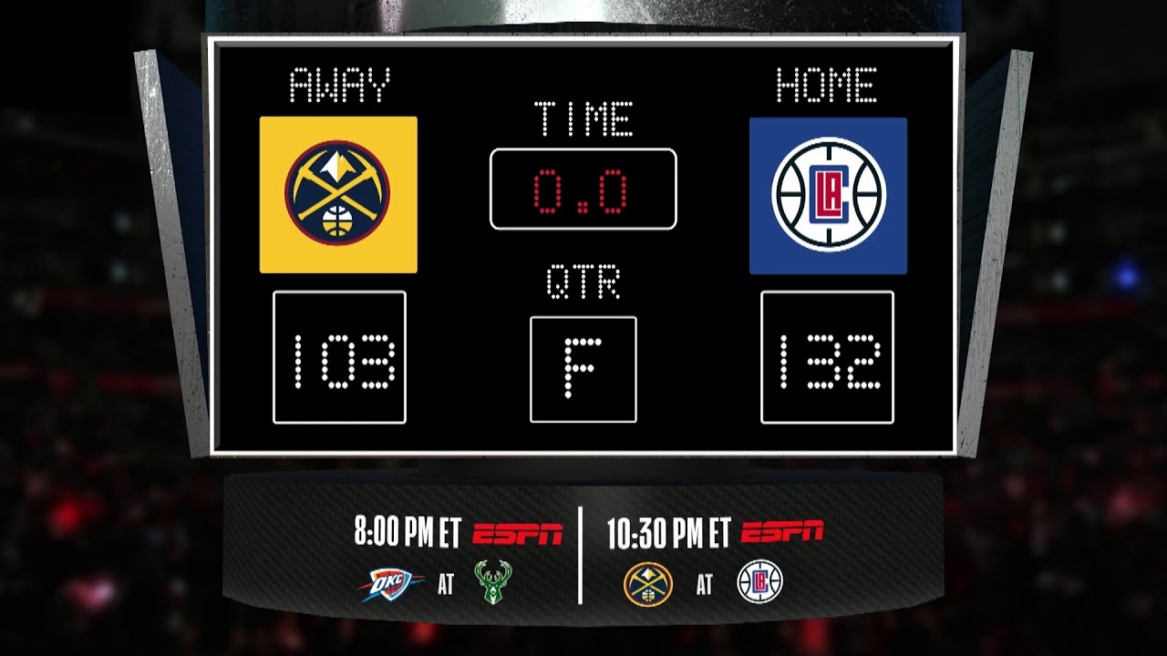 Nuggets @ Clippers LIVE Scoreboard - Join the conversation & catch all the action on ESPN!