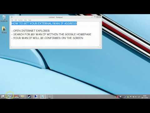 How To Get Your WAN/External IP Address