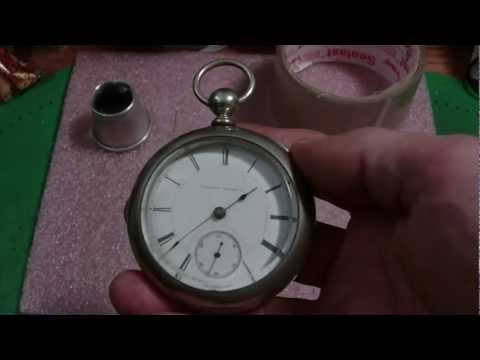How I installed a pocket watch crystal that was to small, Illinois