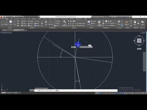 Line With Angle in AutoCAD(অটোক্যাড বাংলা)