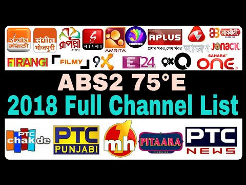 ABS2 Latest 2018 Full Channel List | ABS free dish | ABS2 74.9°E | New Channels Update