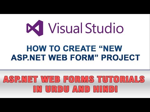 ASP.NET Web Forms Tutorial In Urdu - How to Create New Project