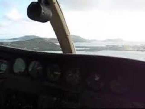 Landing on Beef Island, Tortola