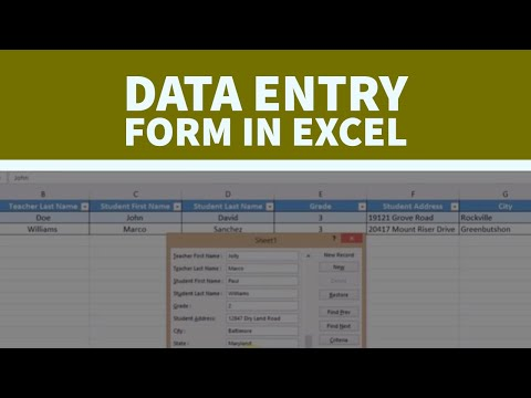 How to Create  a Data Entry Form in Excel 2016 in a Very Easy Way | Gijis Channel