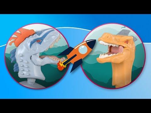 Dinosaurs. Hero Mashers of Jurassic World fight in the jungle
