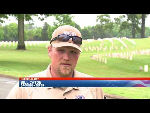 Maintaining the grounds Chattanooga National Cemetery ready for severe weather