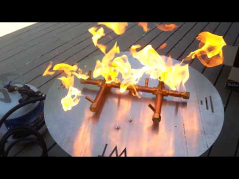 Simple Propane Fire Pit Hook up: Warming Trends Burner & Montana Fire Pits