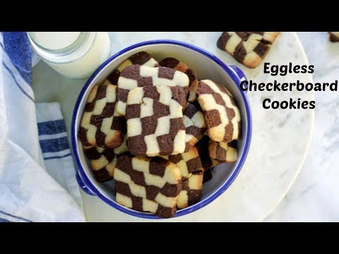 How to make Checkerboard Cookies | Pressure Cooker and Oven Method | Vanilla and Chocolate Cookies