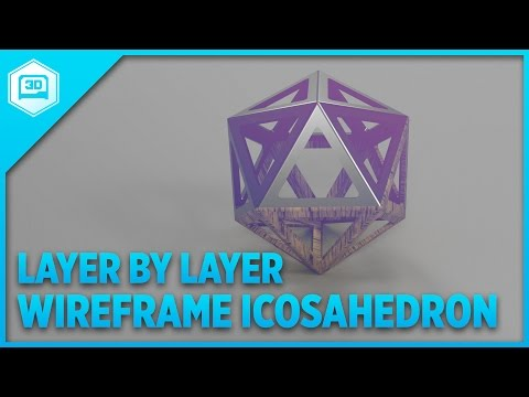 Layer by Layer - Wireframe Icosahedron
