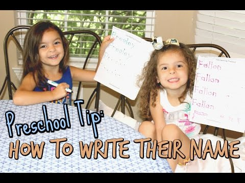 PRESCHOOL TIP - ✍🏼 HOW TO WRITE THEIR NAME - BACK TO SCHOOL