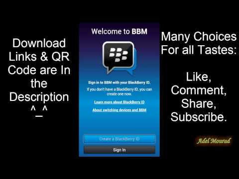 How to download,install,activate,register BlackBerry Messenger For Android