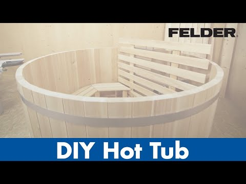DIY hot tub of wood, made with FELDER® woodworking machines