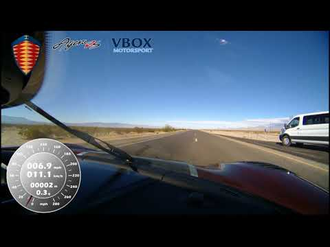Koenigsegg Agera RS hits 284 mph - VBOX verified