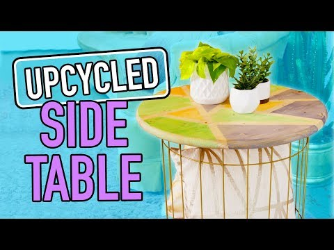 DIY Side Table made from a Basket! - HGTV Handmade