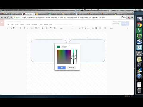 Transparent shapes in Google Drive
