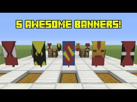 5 Awesome Super Hero Banners AND HOW TO MAKE THEM! (Banners on Console)
