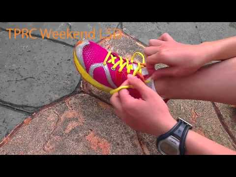 How runners tie their shoe laces.