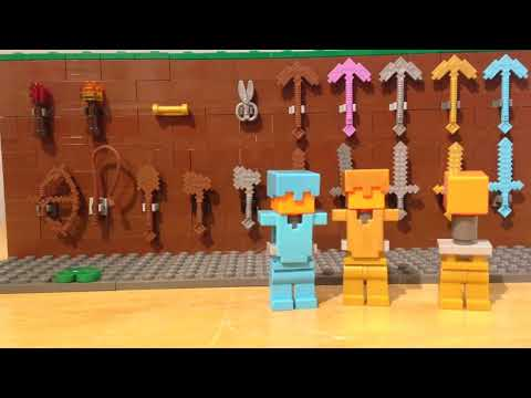 How to make a Lego Minecraft item display case