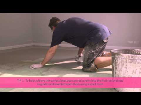 A brief guide to laying your self-levelling screed (subfloor) | Harvey Maria