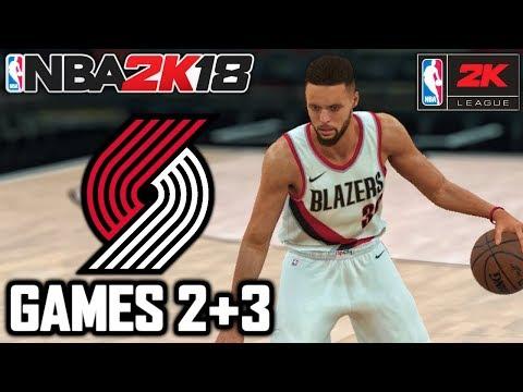 NBA 2K18 YouTuber Online MyLeague Playoffs - ROUND 1 GAMES 2 + 3 - CAN WE SWEEP?