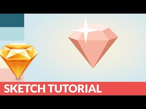 Sketch Tutorial - How to Design a sexy 3D Diamond Logo in 10 min