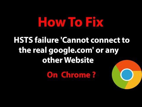 How To Fix HSTS failure
