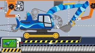 Shark Excavator  | Toy Factory | Video For Kids - Koparka Rekin film dla dzieci