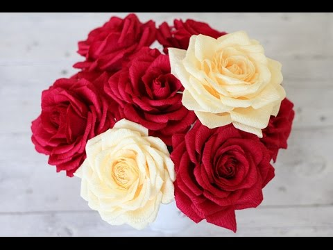 How to Make Paper Real Roses - Origami Rose Quick and Super Easy Way Tutorial