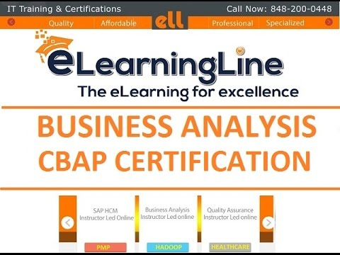 CBAP training 22 PD Hours - Underlying Competencies by ELearningLine @848-200-0448