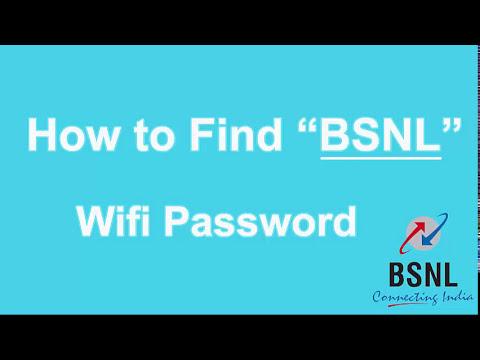 Bsnl Broadband - How to view & Hack BSNL wifi password?