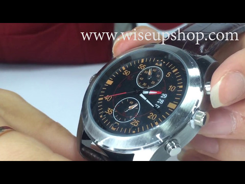 WISEUP 8GB 1280x720P HD Mini Spy Camera Watch Operation Instruction and Demo (Model Number: W8800)
