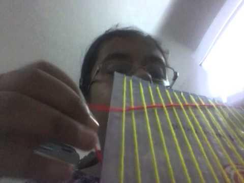How to make wool bag from cardboard loom