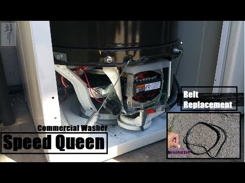 Speed Queen   No Spin/Burn Smell   Replaced The Belt   Commercial Washer