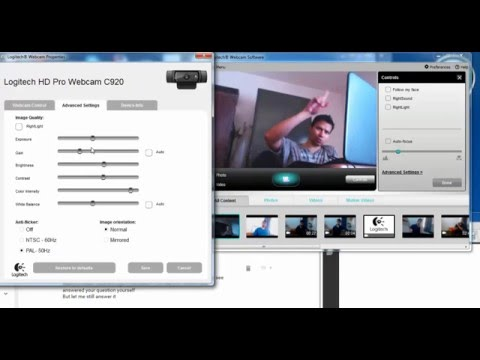 5 How to adjust webcam settings to get focus and lighting right for cam recordings for C 920 webcam?