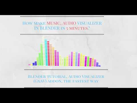 How to make music audio visualizer? ( in 5 minutes) Blender tutorial | Audio Visualizer (GxAV) addon
