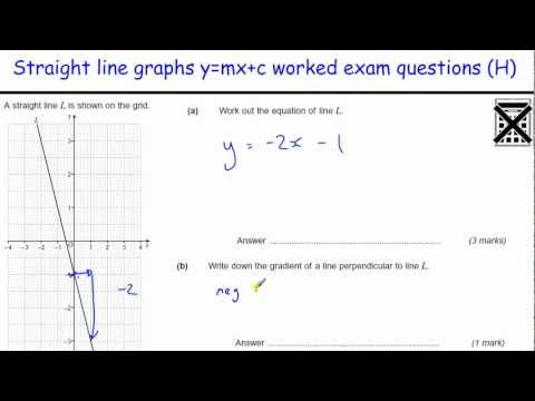 How to do Straight line graphs worked examples GCSE Maths revision worked exam questions