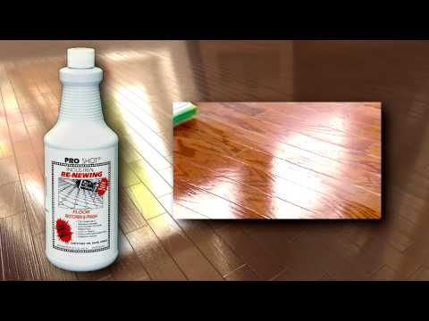 Refinish A Hardwood Floor - No Sanding - No Mess