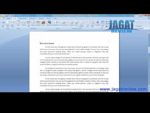 Tutorial: Using Hyperlink on Word 2007