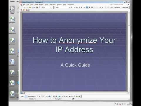 IP Anonymizer - Basic Concepts