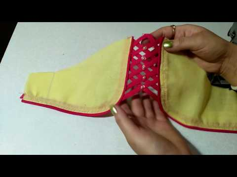 Designer sleeve cutting & stitching