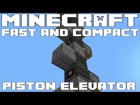 Minecraft 1.11 Piston Elevator - Super fast and compact - Tutorial
