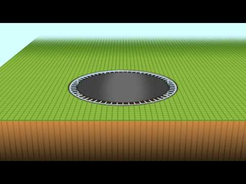 How to install a Ground Level  Trampoline