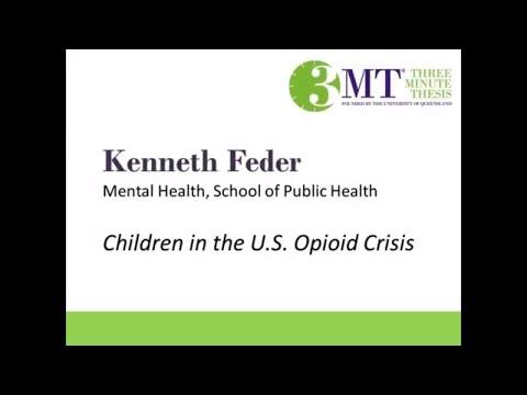 2018 Three Minute Thesis Finalist | Kenneth Feder