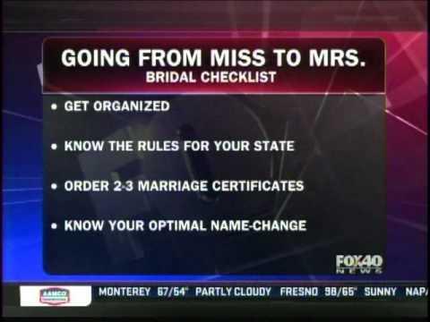 Marriage Name Change